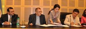 Firmaron convenio para las prácticas de la Universidad Católica de las Misiones en el Parque de la Salud