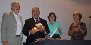 Ricardo Ojeda, Araceli Streda y Rodolfo y Estela Betzel fueron distinguidos por la Junta de Estudios Históricos de Misiones