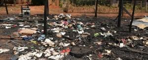 Rescatan a una beba de un año de morir quemada en un incendio