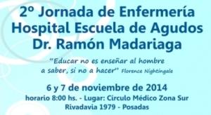 Invitan a las Segundas Jornadas de Enfermería del Madariaga