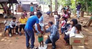 Realizaron nuevo relevamiento nutricional en ocho aldeas aborígenes en San Ignacio