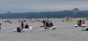 Los clubes de pesca de Posadas y Encarnación hermanados en las 20 Horas de Pesca Embarcada del Pirá Pytá