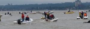 """Con más de 400 pescadores arrancó las """"20 horas de Pesca"""" en el club Pirá Pytá"""