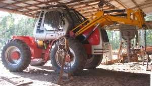 Trabajaba en un aserradero de San Vicente y murió aplastado por la rueda de un zanello que maniobraba un compañero