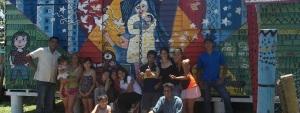 Los chicos del Hogar de Día dejaron su sello de creatividad en el barrio Belén
