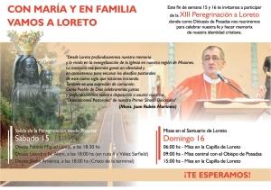 Este fin de semana se realiza la octava Peregrinación a Loreto