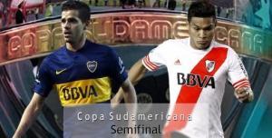 Desde las 20.45 Boca y River, cara a cara en La Bombonera por la semifinal de la Sudamericana