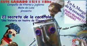 """La compañía """"Mate de Luna"""" presenta """"El secreto de la cacerola"""", en el Galpón de la Murga de la Estación"""