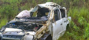 Tragedia en El Soberbio: se despistó una camioneta en la ruta 2 y hubo tres muertos