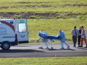 Ebola: realizaron un simulacro de emergencia en el aeropuerto de Posadas