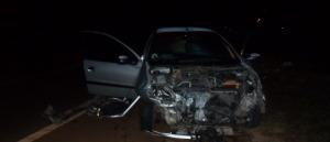 Tres heridos en un choque entre dos autos en la ruta nacional 14