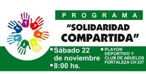 Este fin de semana se realizará el programa Solidaridad Compartida