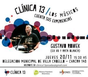 Gustavo Rowek y su historia en el Metal para Clínica 13