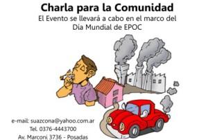 Realizarán charla abierta a la comunidad sobre EPOC
