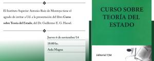 """Guillermo Hassel presentará nuevo libro: """"Curso sobre Teoría del Estado"""""""