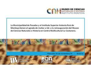 Reinaugurarán el museo del instituto Montoya en el centro Multicultural de la Costanera
