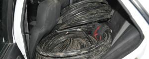 Apresan en Dos de Mayo a un trío acusado de robar 150 kilos de cables telefónicos