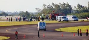 Realizaron simulacro de accidente aéreo en el aeropuerto de Posadas