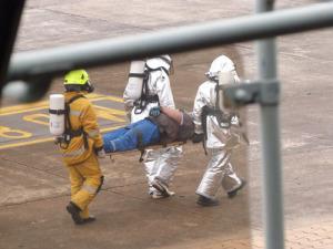 Recrean simulacros de catástrofes para entrenar a los equipos de emergencia de la provincia