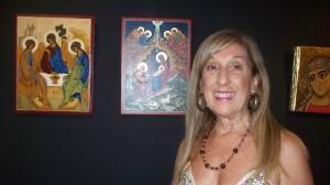 Muestra de íconos sacros: María Mercedes Gutiérrez hizo visible lo invisible en las Sagradas Escrituras