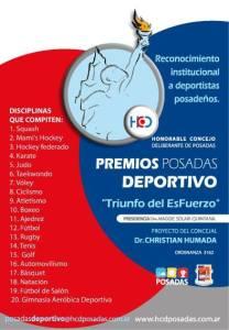 """Todo listo para """"Premios Posadas  Deportivo"""""""
