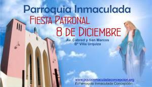 Fiesta Patronal de la Inmaculada Concepción en el barrio Villa Urquiza, de Posadas
