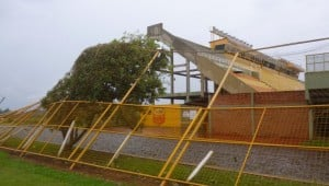 Crucero del Norte tampoco se salvó del temporal, hubo daños y cerraron por reparaciones