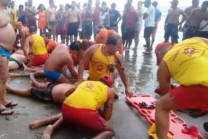 Cuatro bañistas murieron en una playa de Brasil alcanzados por un rayo