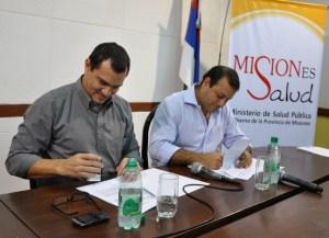 Salud Pública y Trabajo firmaron un convenio de colaboración reciproca entre ambos Ministerios