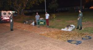 Casi 800 kilos de marihuana que viajaban en una ambulancia fueron interceptados en Santo Tomé