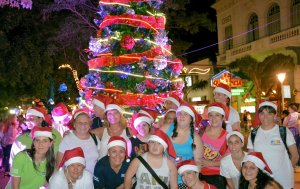 Con el encendido del Árbol de Navidad comenzó la celebración de las Fiestas de fin de Año