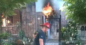 Incendio destruyó una casa en Oberá