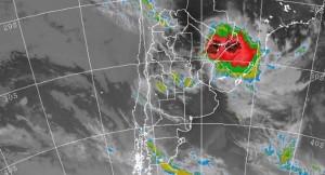 Mirá la abrumadora imagen de la tormenta en Misiones