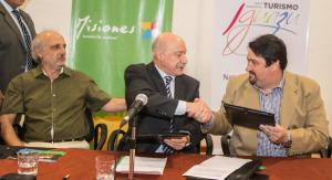 Firmaron convenio y la organización de la sexta edición de Iguazú en Concierto está en marcha