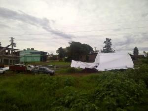 En Oberá también provocó caídas de postes, árboles y voladuras de techos