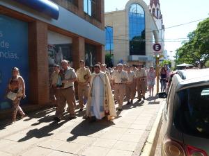 Gendarmería homenajeo a la Virgen
