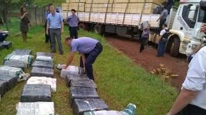 Pesó 3.616 kilos la droga del camión empantanado en Alem y liberaron a tres de los cinco detenidos