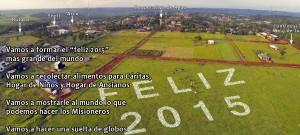 En Misiones quieren formar el Feliz 2015 humano y solidario más grande del mundo