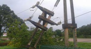Por la tormenta del lunes Oberá sufrió cortes de energía y falta de agua en diferentes barrios