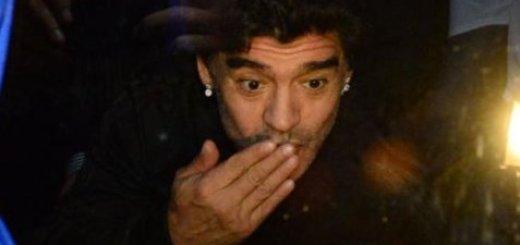 Maradona le deseó suerte a Crucero en la previa del ascenso a Primera