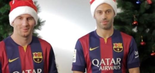 Messi y Mascherano anticipan la Navidad
