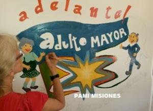 Pintaron mural alusivo a la inclusión y el respeto a los derechos de la vejez