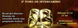 Segundo Foro de dirección teatral mañana en el Multicultural de la Costanera