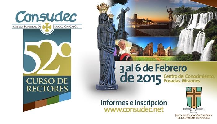 Del 3 al 6 de febrero rectores de instituciones católicas del país se reunirán en Posadas