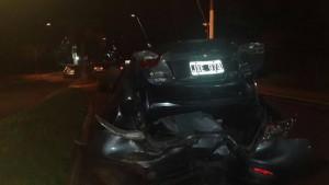 Espectacular accidente de tránsito sobre la avenida principal de Puerto Iguazú