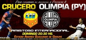 El partido de Crucero y Olimpia no se suspende por lluvia