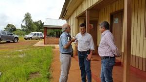 El ministro Jacobo recorrió obras en escuelas de San Pedro y Bernardo de Irigoyen
