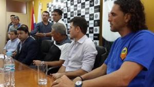 Presentaron en Encarnación el partido Crucero-Olimpia que se juega el domingo 20.30