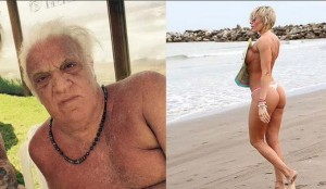 A los 71 años el Coco Basile se puso de novio con la vedette Johanna Villafañe, la ex hermana Pombo
