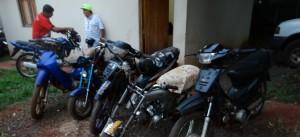 Golpe a los robamotos en Oberá e Iguazú: secuestraron máquinas y detuvieron a sospechosos